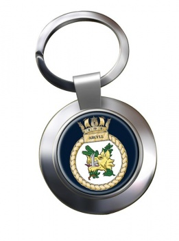 HMS Argyll (Royal Navy) Chrome Key Ring