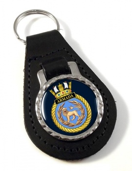 HMS Armada (Royal Navy) Leather Key Fob
