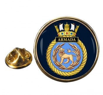 HMS Armada (Royal Navy) Round Pin Badge