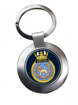 HMS Armada (Royal Navy) Chrome Key Ring