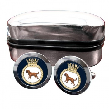 HMS Astute (Royal Navy) Round Cufflinks
