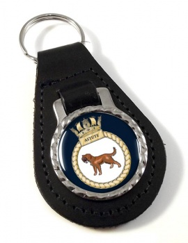 HMS Astute (Royal Navy) Leather Key Fob
