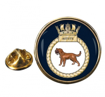 HMS Astute (Royal Navy) Round Pin Badge