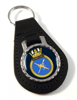 HMS Atheling (Royal Navy) Leather Key Fob