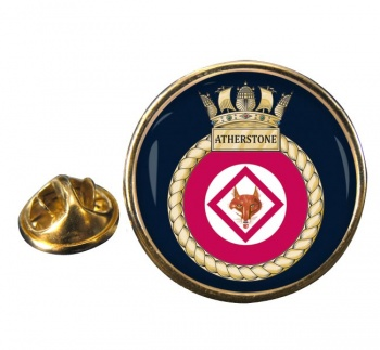 HMS Atherstone (Royal Navy) Round Pin Badge