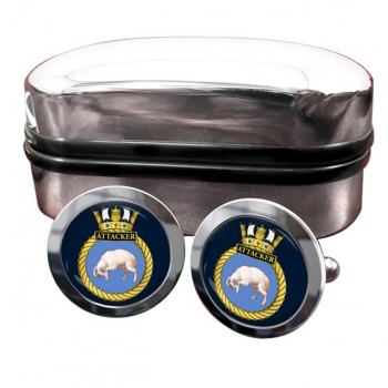 HMS Attacker (Royal Navy) Round Cufflinks