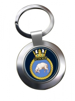 HMS Attacker (Royal Navy) Chrome Key Ring