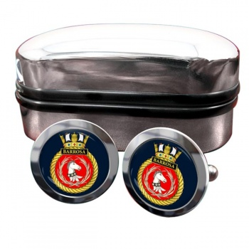 HMS Barrosa (Royal Navy) Round Cufflinks
