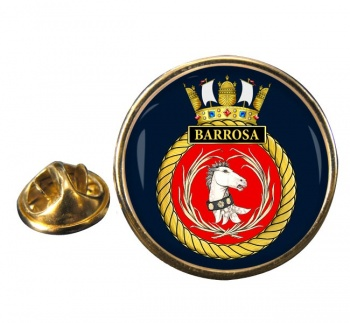 HMS Barrosa (Royal Navy) Round Pin Badge