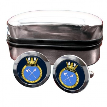 HMS Battler (Royal Navy) Round Cufflinks