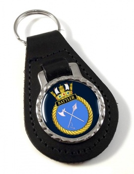 HMS Battler (Royal Navy) Leather Key Fob
