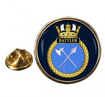 HMS Battler (Royal Navy) Round Pin Badge