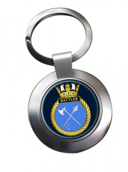 HMS Battler (Royal Navy) Chrome Key Ring