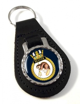 HMS Beaver (Royal Navy) Leather Key Fob