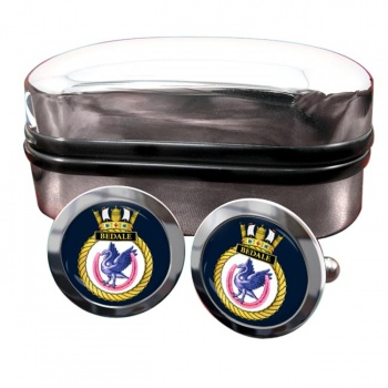HMS Bedale (Royal Navy) Round Cufflinks