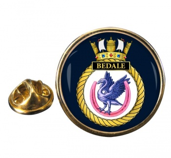HMS Bedale (Royal Navy) Round Pin Badge