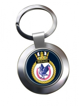 HMS Bedale (Royal Navy) Chrome Key Ring