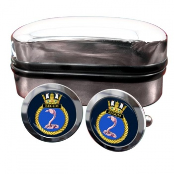 HMS Begum (Royal Navy) Round Cufflinks