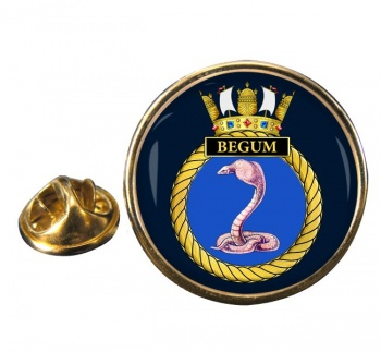 HMS Begum (Royal Navy) Round Pin Badge