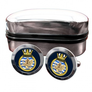 HMS Bellerophon (Royal Navy) Round Cufflinks