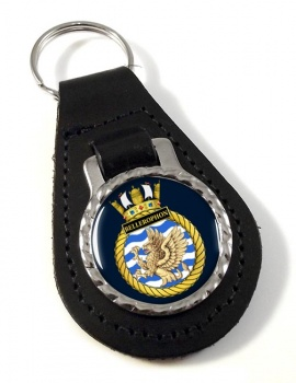 HMS Bellerophon (Royal Navy) Leather Key Fob