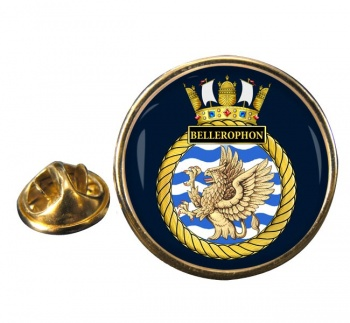 HMS Bellerophon (Royal Navy) Round Pin Badge