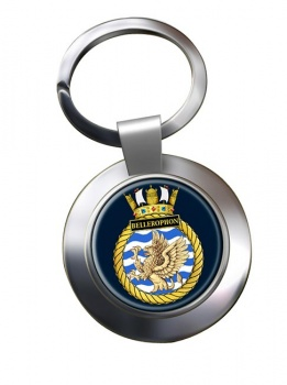HMS Bellerophon (Royal Navy) Chrome Key Ring