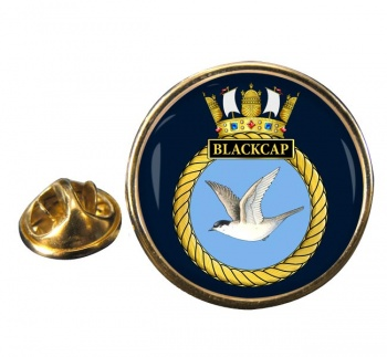 HMS Blackcap (Royal Navy) Round Pin Badge
