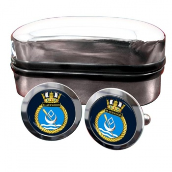 HMS Blackwood (Royal Navy) Round Cufflinks