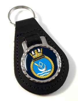 HMS Blackwood (Royal Navy) Leather Key Fob