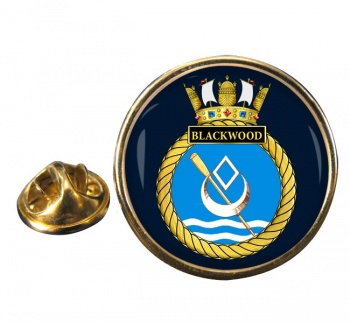 HMS Blackwood (Royal Navy) Round Pin Badge