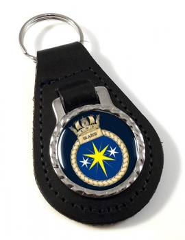 HMS Blazer (Royal Navy) Leather Key Fob