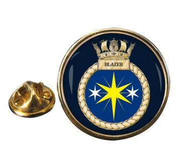 HMS Blazer (Royal Navy) Round Pin Badge