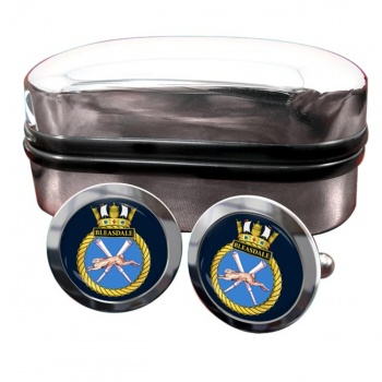 HMS Bleasdale (Royal Navy) Round Cufflinks