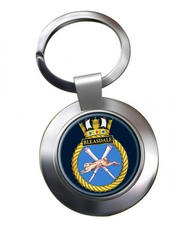 HMS Bleasdale (Royal Navy) Chrome Key Ring