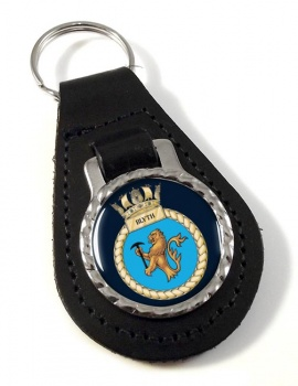 HMS Blyth (Royal Navy) Leather Key Fob
