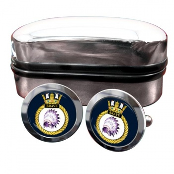 HMS Brave (Royal Navy) Round Cufflinks