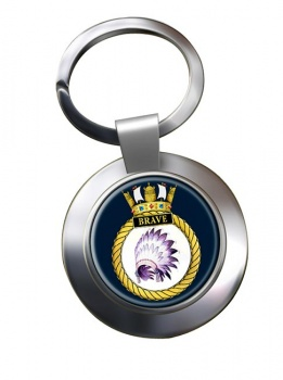 HMS Brave (Royal Navy) Chrome Key Ring