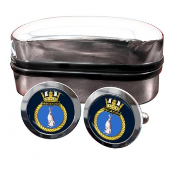 HMS Brissenden (Royal Navy) Round Cufflinks