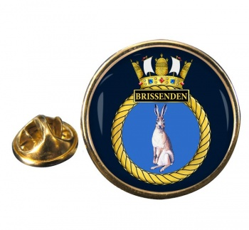 HMS Brissenden (Royal Navy) Round Pin Badge