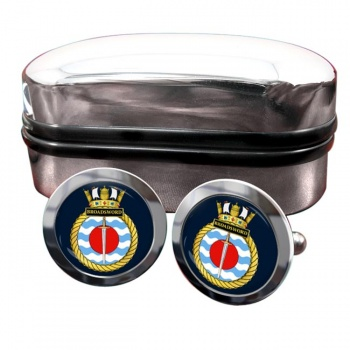 HMS Broadsword (Royal Navy) Round Cufflinks
