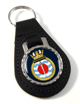 HMS Broadsword (Royal Navy) Leather Key Fob