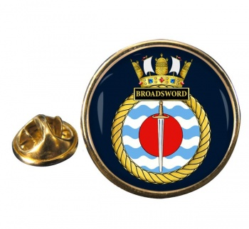 HMS Broadsword (Royal Navy) Round Pin Badge