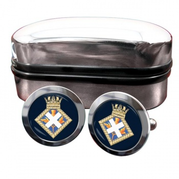 HMS Caledonia (Royal Navy) Round Cufflinks