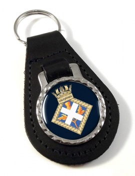 HMS Caledonia (Royal Navy) Leather Key Fob