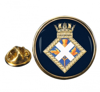 HMS Caledonia (Royal Navy) Round Pin Badge