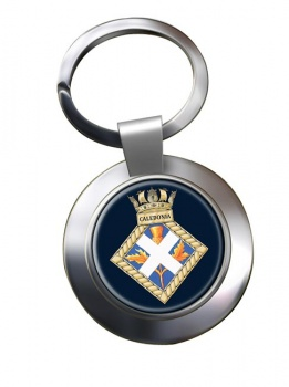 HMS Caledonia (Royal Navy) Chrome Key Ring