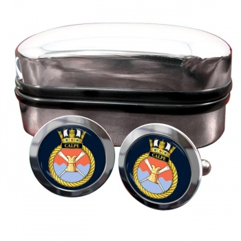 HMS Calpe (Royal Navy) Round Cufflinks