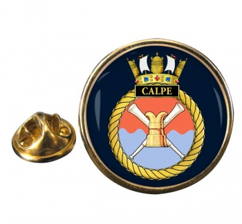 HMS Calpe (Royal Navy) Round Pin Badge
