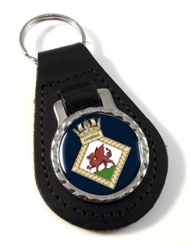 HMS Cambria (Royal Navy) Leather Key Fob